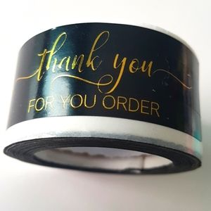 """🆕 NEW 120 pcs Thank You for Your Order 1""""x3"""" inch"""